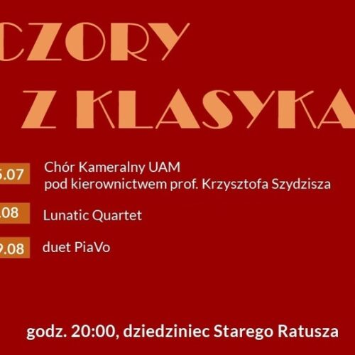 Muzyka klasyczna ponownie na dziedzińcu Starego Ratusza